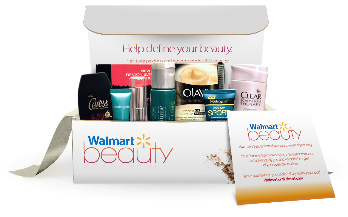 Walmart Beauty box.